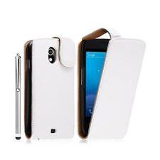 Housse coque étui pour Samsung Galaxy Nexus couleur blanc + stylet luxe + film p