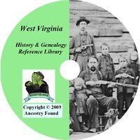 50 old books History & Genealogy of West Virginia WV