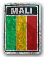 Mali Country Flag Reflective Decal Bumper Sticker