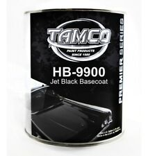 Tamco Super High Gloss Basecoat Clear Coat Kit -JET BLACK 1:1 Mix for Base