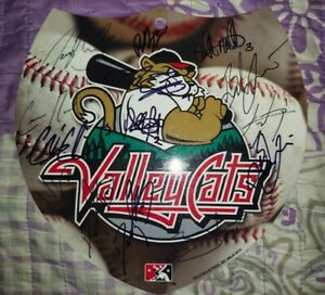2021 Tri-City Valleycats Team Signed Plastic Interstate Sign