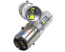 2x H6 BA20D 30W CREE LED Motor Bike ATV Scooter Headlights Xenon White 360°