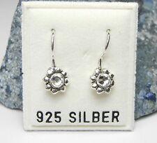 NEU 925 Silber OHRHÄNGER Blüten STRASSSTEINE crystal/kristallklar OHRRINGE