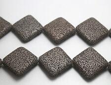 "Natural Black lava Beads,Volcanic Rock Diamond shape loose beads,starand 15"""