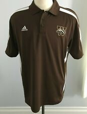 Adidas Western Michigan Men's Brown & White Climalite Golf Polo Size: L