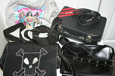 Hot Topic Spike Suitcase Killig Backpack Fuzzynation & DC Girls Punk Purse Bag