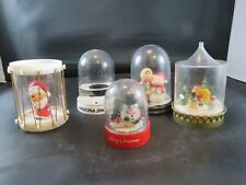 5 Vintage Christmas themed Snow globes/Snow domes - Collectables!