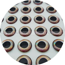 12mm Real Cold / Wholesale 250 Soft Molded 3D Holographic Fish Eyes, Fly Lure