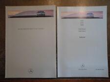MERCEDES BENZ E CLASS SALOONS 1995 1996 UK Mkt Prestige Sales Brochure + Specs