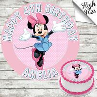 "Minnie Mouse Mignon Comestible Anniversaire Cupcake Fée Gâteau TOPPERS 1.5 /""x 30"