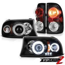 "Dodge Dakota Base RT Sport ""CCFL"" Projector Halo LED Headlight Tail Lamps BLACK"