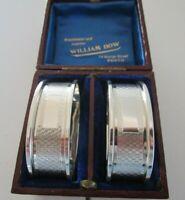 Cased Pair Sterling Silver Napkin Rings, Birmingham 1983 - 84