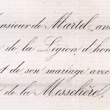 Charles Louis De Martel 1869 Marie Frotier De La Messelière