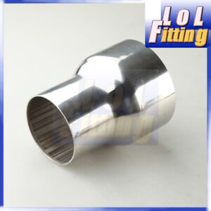 """Universal 3"""" To 4"""" inch Stainless Steel Turbo Exhaust  Reducer Connector Pipe"""