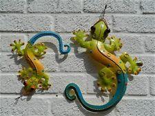 Gecko Wall Art Ornament Metal Geckos Lizard Wall Hanging -  Set of 2 - Assorted