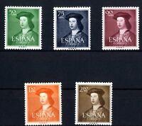 Sellos de España 1952 1106-1110 Fernando el Catolico sellos nuevos