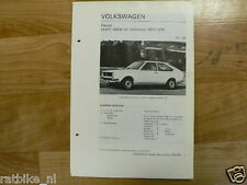 V38-VOLKSWAGEN PASSAT COACH,SEDAN EN STATIONCAR 1973-19