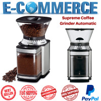 Supreme Commercial Coffee Grinder Automatic Burr Mill Espresso Bean Home Grind
