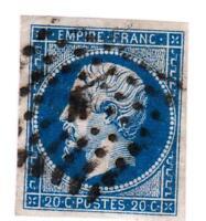 EMPIRE   N°14 A (  ) oblitéré A bureau de quartiers de Paris