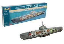 Revell 05078 Deutsches U-Boot Typ XXI mit Interieur - 1:144 - Neu