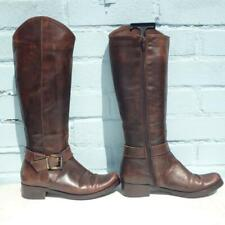 Charles David Leather Boots Size UK 3.5 Eur 36.5 Sexy Womens Ladies Brown Boots