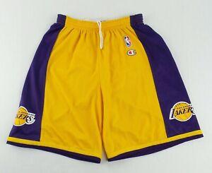 Vintage Champion NBA Los Angeles Lakers Basketball Shorts Size Men's M (32-34)