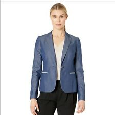 TOMMY HILFIGER COTTON SHIRTING ELBOW PATCH WOMEN'S JACKET SIZE 6 $129