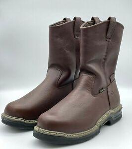 Wolverine Buccaneer Dark Brown - Men's Steel Toe Boots Size 13 Extra Wide W04826