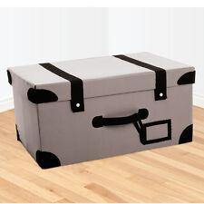 RETRO SUITCASE STORAGE BOX TRUNK - GREY