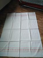 altes Bettlaken;Baumwolle mit Webmuster; 215 x 140 cm