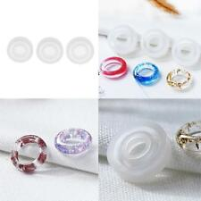 3pcs Silicone Ring Mould Epoxy Resin Casting for DIY Jewelry Making Crafts