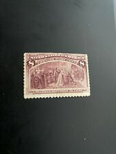 Us Stamps Scott #236.8 cent 1893 Columbian Expo Issue -Cv $47.mint Light Hinge