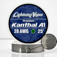 28 Gauge AWG Kanthal A1 Wire 25' Length - KA1 Wire 28g GA 0.32 mm 25 ft