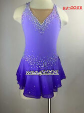Ice Figure Skating Dress Gymnastics custome Dress Dance Competition purple