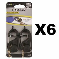 Nite Ize CamJam Mini Cord Tightener Small 2-Pack Compact Lightweight Durable