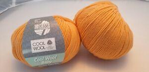 700 g Cool Wool baby Fb. 260 lachs Lana Grossa 100% Merinowolle