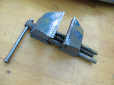 Small Vintage Iron Vise Work Bench Shop