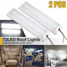 2x 72led Rv Ceiling Dome Light Car Interior Lighting Lamp 12v For Trailer Camper
