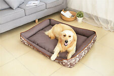 AcornFort B-814 Classical Brown Dog Bed Pet Pillow Fleece Extra Large 110x90CM