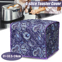 Foldable 4 Piece Toaster Bakeware Polyester Cover Dustproof Protector Washable