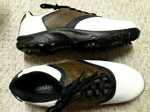 Gorgeous FOOTJOY White Brown Men's Size 11 W GOLF Shoes