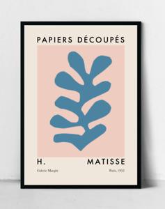 Matisse Cutout Poster, Henri Matisse Art Print, Pink and Blue Art