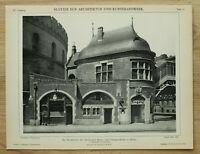 Architektur 1902 Berlin Hochbahn U-Bahn Prinzenstrasse Haltestelle Kneipe 26x34