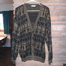 Vintage VIAGGI Mens Knit Cardigan Made in the USA Size Large Tall LT