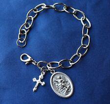 St Michael the Archangel  Religious Saint Medal Charm Bracelet