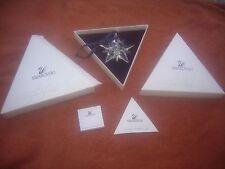 Swarovski weihnachtsstern Christmas ornament 2001 m zerifikat + embalaje original-dañado