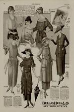 1920 BELLAS HESS & CO. FASHION AD / SEVEN STYLES