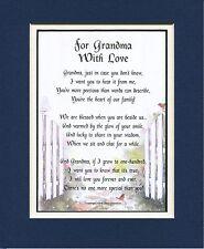 #28 Present Gift Keepsake Poem for Grandmother. 60th 70th 80th birthday