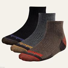 Timberland Men's Multipurpose Quarter Crew One Size Black Sock 3Pk Style A16IV