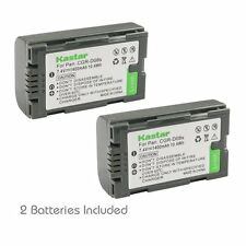 2x Kastar Battery for Panasonic CGR-D08 AG-EZ50U AG-HVX200 AJ-PCS060G DZ-MX5000